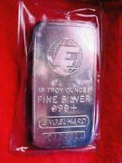 10 Troy Ounce Pure Silver Bar The Bar In The Photo Is The Bar In The Ad 100