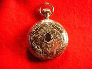Elgin 6 Size 14 Kt Multi Colored Gold Hunting Case Pocket Watch Running 2799