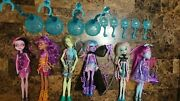 Monster High Haunted Getting Ghostly Rochelle Porter Kiyomi River Draculaura Lot
