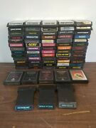 Lot Of 73 Different Atari 2600 Games Carts Only Some Damaged Labels