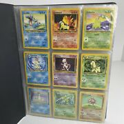 Wotc Pokemon Card Binder Collection Rare - Holo And 1st Editions - Vintage Cards