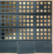 1964-2021 Pandd Uncirculated Kennedy Half Dollar Set 107 Coins In New Folders
