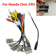 Car Stereo 16pin Wiring Harness Connector With Canbus Box For Honda Civic 16-19
