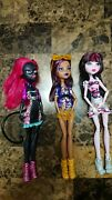 Monster High Out Of Tombers Dolls Doll Draculaura Clawdeen Wolf Catty Noir Lot