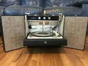 Vintage Ge Stereophonic Portable Turntable Record Player Rp 1570a
