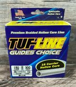 Tuf-line 150 Lb Test, 300 Yards, Dia. 0.025 16 Carrier Hollow Core Fishing Blue