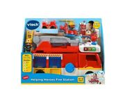 Vtech Helping Heroes Fire Station 2-in-1 Playset W/ Firefighters And Firetruck New