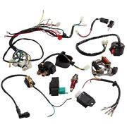 90cc 110cc Cdi Wire Harness Stator Assembly Wiring Kit Atv Electric For Quad Gy6