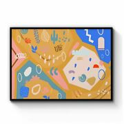 Abstract Shapes Minimal Wall Art Print Poster Framed Or Canvas