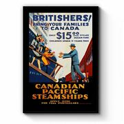 Canadian Pacific Vintage Shipping Advert Wall Art