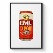 Emu Export Beer Painting Gift Man Cave Wall Art
