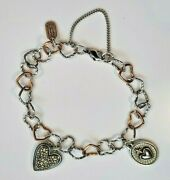 James Avery Heirloom Heart And Radiant Sacred Charm Bracelet Sterling And Bronze