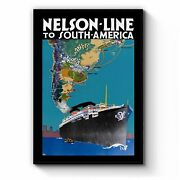 Nelson Line To South America Vintage Travel Wall Art