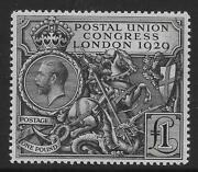 Great Britain - George V 1929 Postal Union Congress Andpound1 Black Very - 33086