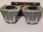 Harley 86-up 883 Sportster Silver Cylinders Front And Rear Pair 1999