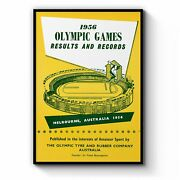Olympic Games Melbourne 1956 Vintage Wall Art