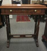 Antique Victorian Walnut Sewing Table Circa 1800s Hard To Find