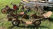 Vintage Pedal Carts Tricycles Tractor Scooter Pre 1970s