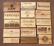 Wood Wine Box 15 Panel Lot Crate Lids And Ends Napa French. Cellar Wall