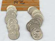 Roll Of 40 1976 Bicentennial Drummer Boy Quarters Average Circulated Condition