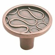 Flat Disc Kitchen Cabinet Knob 1-1/2 Diameter Weathered Copper - Pack Of 1000