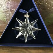 2009 Swarovskisnowflakestar Annual Christmas Ornament W/ Box And Paper Large