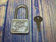 Vintage Master Lock Co. 77 Tiger Lock With Key Tested Works As Is