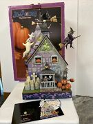 Rare Jim Shore 2010 Haunted House Musical Masterpiece Halloween Mib Witch Ghost
