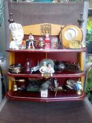 Vintage 1950s Themed 25pc Diorama Of Mens Collectables And Mancave Particulars