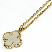 And Sweet Necklace White Butterfly 750yg Used Excellent