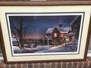 Framed Limited Sold Out Edition Andldquohouse Callandrdquoby Terry Redlin Signed And Numbered