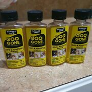 4 Total Goo Gone Grease Oil Gum Cleaner Tape Tar, Adhesive Residue Remover 2oz