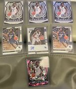 Tyrese Maxey 7 Card Rookie Lot Prizm Draft Auto Inserts Kentucky Wildcats 76ers
