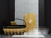 2011 Longaberger Eclipse Chore Basket Lid Protector Fathers Day Combo Rare New