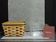 2007 Longaberger Act American Craft Traditions Large Berry Basket Protector New