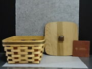 2007 Longaberger Act American Craft Traditions Large Berry Basket Lid Combo New