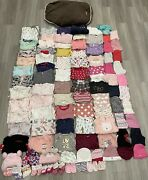 Huge Lot Of Baby Girl Clothes Size 0-3 Month Old, 95 Pieces