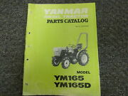 Yanmar Models Ym165 And Ym165d Diesel Tractor Parts Catalog Manual Book