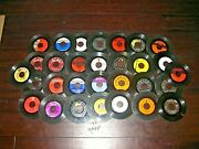 Lot Of 30 - 45 Rpm 7 Vinyl Records 3 - The Supremes Four Aces Rick Springfield