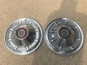 Pair 2 1966-1977 Ford Bronco 4x4 F100 F150 Truck Hubcaps Driver 15andrdquo Red