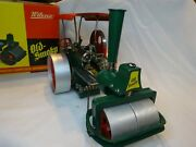 Vintage Old Smoky Wilesco Steam Powered Engine Roller Tractor With Remote Steer