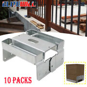 10 Packs Adjustable Post Base Aba66z Zmax Kit For Porch Railings, Mailbox Posts