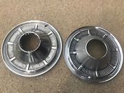 Pair 2 1966-1977 Ford Bronco 4x4 F100 F150 Truck Hubcaps Driver 15andrdquo