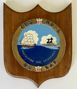 """Uss Hull Us Navy Ship Dd 945 """"protecting Our Heritage"""" Metal And Wood Wall Plaque"""