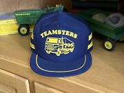 Vintage Rare 3 Stripe Teamsters 705 Trucker Snapback Hat Made In Usa Trucking