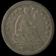 1856-o U.s. 5andcent - Seated Liberty Silver Half Dime - F