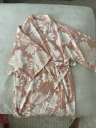Pink Blush Maternity Robe Pink Floral Size Small