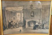 Hand Colored Lithograph By Joseph Nash - Drawing Room Haddon Hall Derbyshire