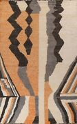 Abstract Moroccan Oriental Area Rug Hand-knotted Wool Large Modern Carpet 10x14
