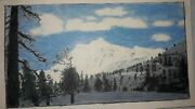 1951 Hand Colored Picture Of Mount Baker Washington 9 X 5 1/4